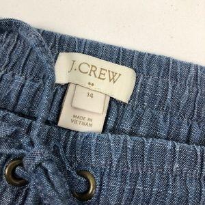 J. Crew Factory Pants - J. Crew Chambray drawstring pant